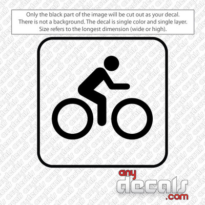 cycling symbol car decals and stickers