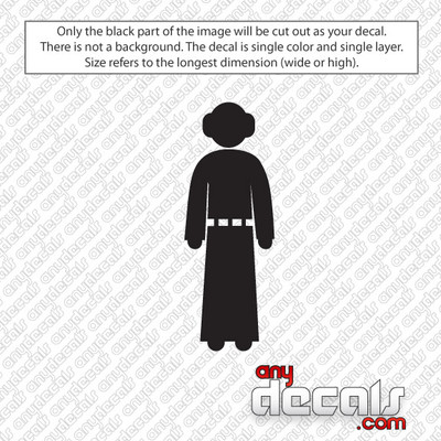 Star Wars Themed Car Stickers & Decals - Like Princess Leia