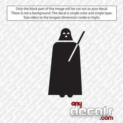 Star Wars Themed Car Stickers & Decals - Like Darth Vader
