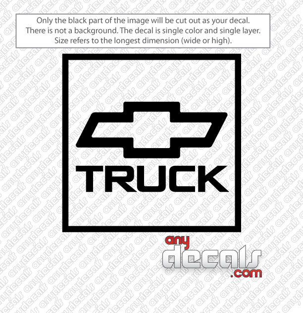 Car Decals Car Stickers Chevy Truck Car Decal AnyDecalscom - Chevy decals for trucks