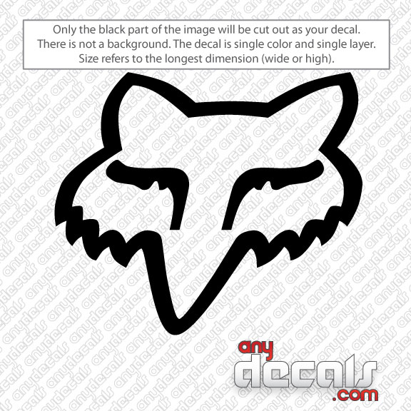 motocross car decals - fox racing fox head car decal | anydecals