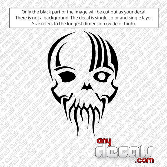 Car Decals Car Stickers One Eye Skull Car Decal AnyDecalscom - Decals for cars