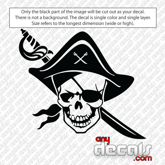 Car Decals Car Stickers Pirate Skull Car Decal AnyDecalscom - Decals for cars