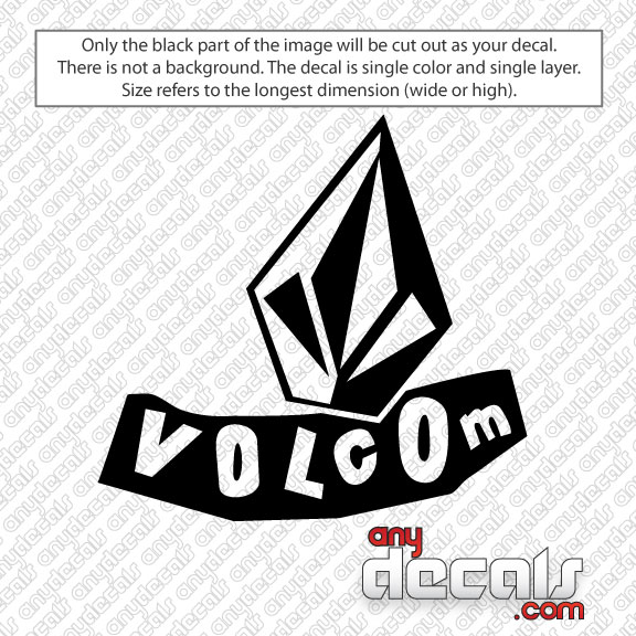 Car Decals Car Stickers Volcom Leaning Car Decal AnyDecalscom - Decals for cars