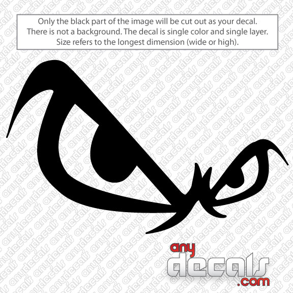 Motocross Car Decals No Fear Eyes Car Decal AnyDecalscom - Car sticker decals