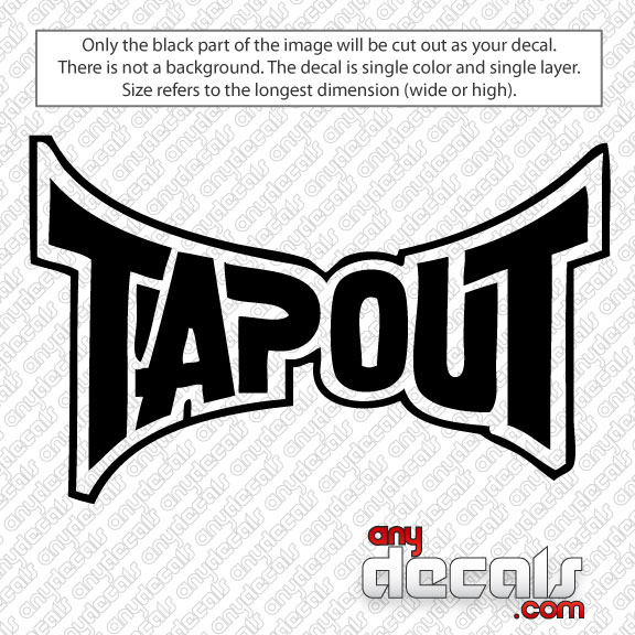 Car Decals Car Stickers Tapout Logo Car Decal AnyDecalscom - Decals for cars