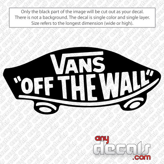Car Decals Car Stickers Vans Off The Wall Skateboard