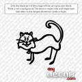 Sassy the Cat Car Decal