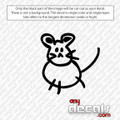 Mighty Mouse Car Decal