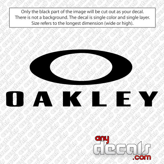 Oakley Window Decal