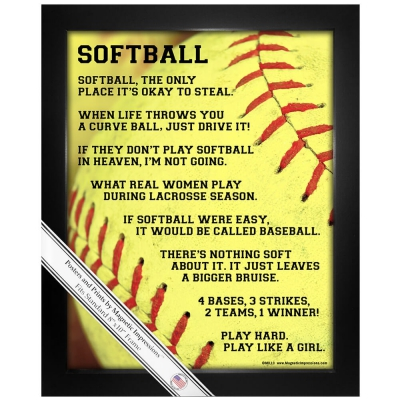 Softball Softball Gifts Shirts And Poster Prints