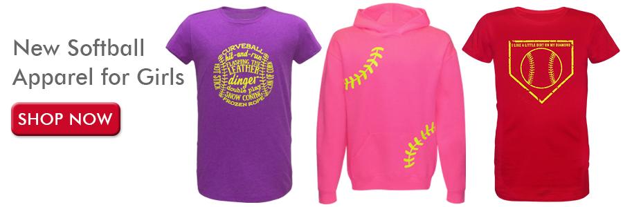 New Softball Clothing for Girls