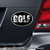 Golfer Word Men's Car Magnet Chrome on Car