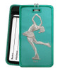 Figure Skater Layback Aqua Luggage Tag front and back