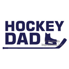 Hockey Dad Window Decal