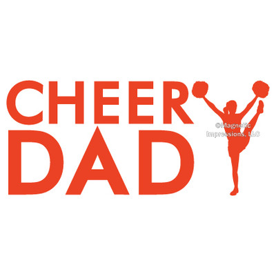 Cheer Dad Window Decal