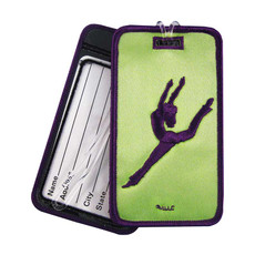 Grape Contemporary Jazz Dancer on Key Lime Luggage Tag
