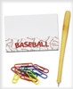 Baseball Sticky Notes. Office supplies and pen not included.