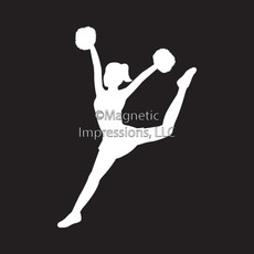 Pom Dancer Car Window Decal in White