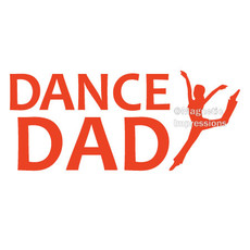 Dance Dad Modern Window Decal