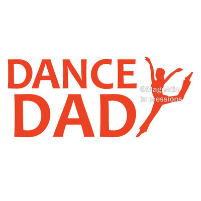 Dance Dad Modern Window Decal