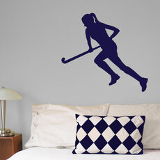 Field Hockey Run Wall Décor