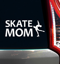 Figure Skate Mom Window Decal