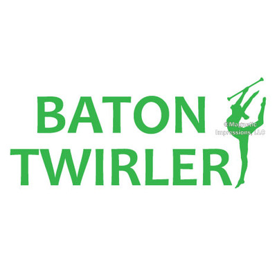 Baton Twirler Word Window Decal