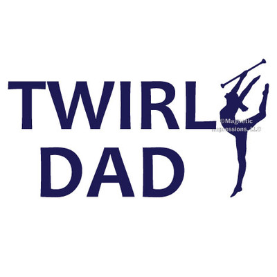 Twirl Dad Window Decal