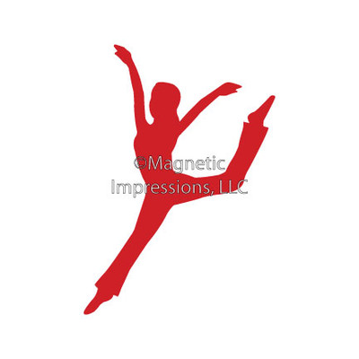 Modern Dancer Car Window Decal in Red