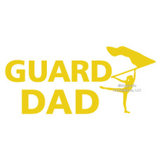 Color Guard Dad Window Decal