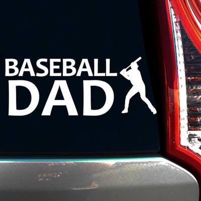 Baseball Dad Batter Window Decal