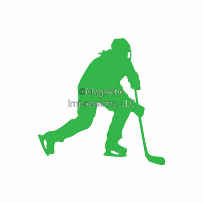 Ice Hockey Female Window Decal