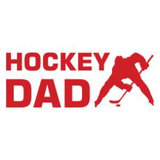 Hockey Dad Faceoff Window Decal