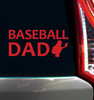 Baseball Dad Catcher Window Decal in red