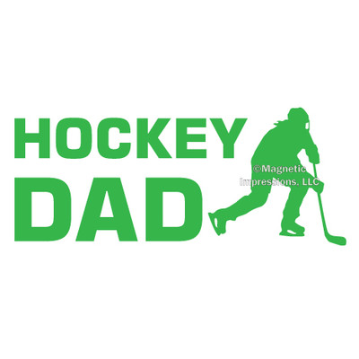Hockey Dad Female Window Decal