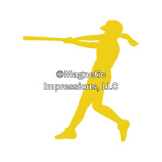 Softball Batter Window Decal