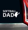Softball Dad Catcher Window Decal on Car