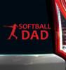 Softball Dad Window Decal
