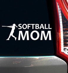 Softball Mom Batter Window Decal