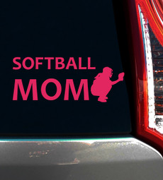 Softball Mom Catcher Window Decal