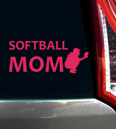 Softball Mom Catcher Window Decal