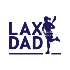 Lax Dad Female Window Decal