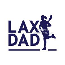 Lax Dad Female Window Decal