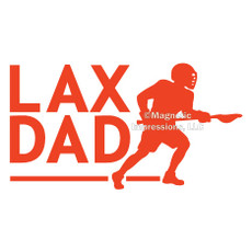 Lax Dad Male Window Decal