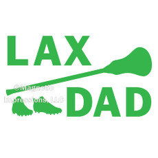 Lax Dad Gear Window Decal