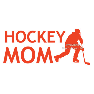 Hockey Mom Female Window Decal