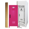 Mini Locker Hot Pink. Ruler not included.
