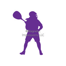 Lacrosse Goalie Female Window Decal