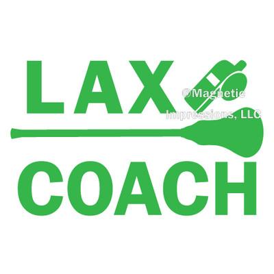 Lacrosse Coach Window Decal